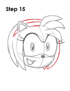 Draw Amy Rose 15