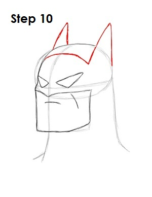 How to Draw Batman Step 10