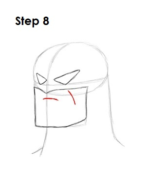 How to Draw Batman Step 8