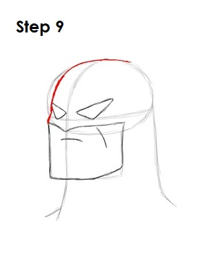 How to Draw Batman Step 9