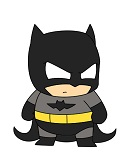 How to Draw Batman Mini Chibi