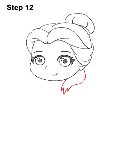 Draw Mini Chibi Cute Little Belle Beauty 12