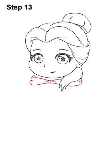 Draw Mini Chibi Cute Little Belle Beauty 13