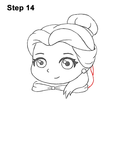 Draw Mini Chibi Cute Little Belle Beauty 14