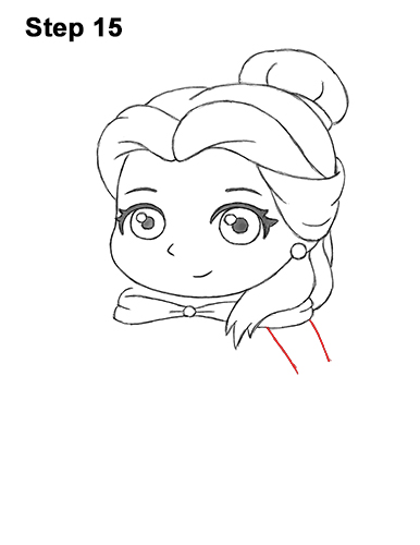 Draw Mini Chibi Cute Little Belle Beauty 15