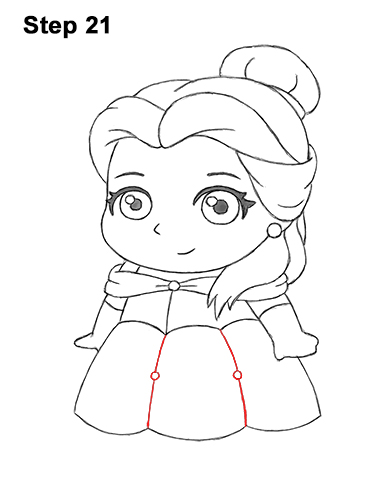 Draw Mini Chibi Cute Little Belle Beauty 21