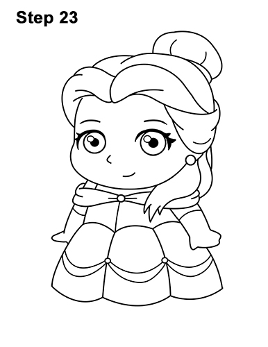 Draw Mini Chibi Cute Little Belle Beauty 23