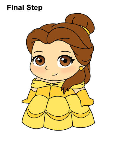 Draw Mini Chibi Cute Little Belle Beauty