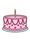 How to Draw Birthday Cake Candle Pink