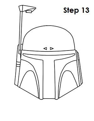How To Draw Boba Fett Helmet Sketch Coloring Page
