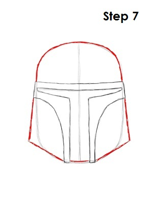 Draw Boba Fett Step 7