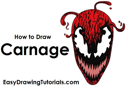 How to Draw Carnage (Spider-Man)