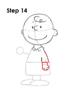 Draw Charlie Brown 14