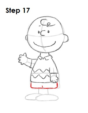 Draw Charlie Brown 17