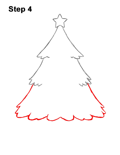 How to Draw Cartoon Christmas Tree with Presents 4