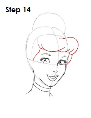 How to Draw Cinderella Step 14