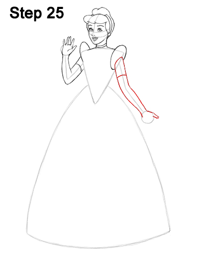 How To Draw Cinderella Full Body