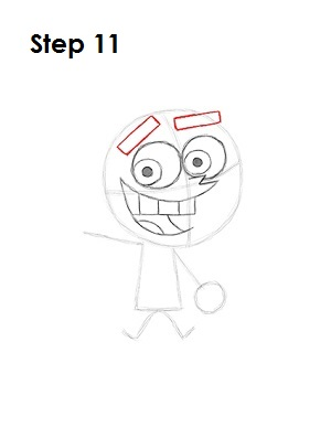 How to Draw Cosmo Step 11