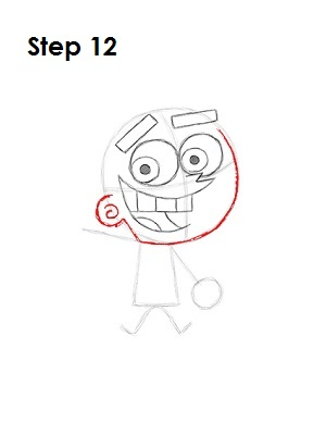 How to Draw Cosmo Step 12