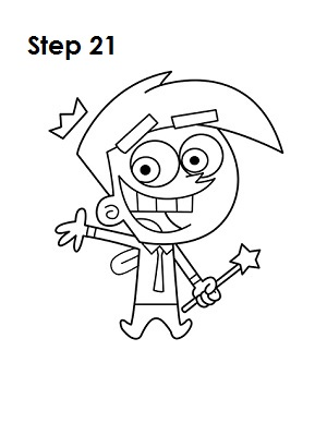 How to Draw Cosmo Step 21