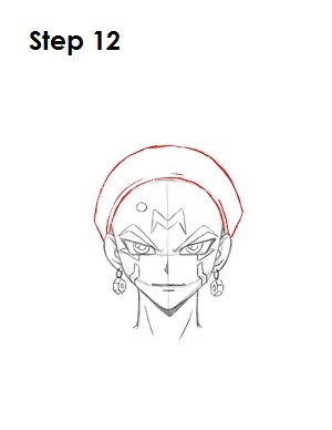 Draw Crow Hogan Step 12