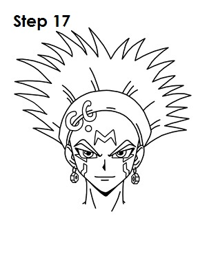 Draw Crow Hogan Step 17
