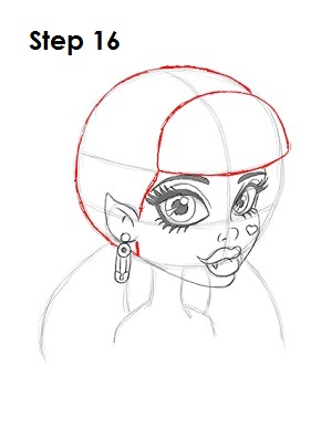 How to Draw Draculaura Step 16