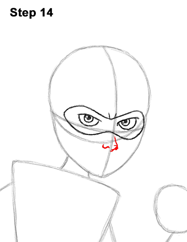 How to Draw Elastigirl Helen Parr Incredibles 14