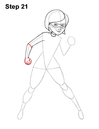 How to Draw Elastigirl Helen Parr Incredibles 21