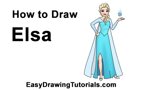 How to Draw Queen Elsa Frozen Body
