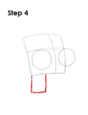 How to Draw GIR Step 4