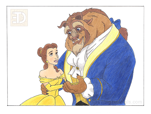 Beauty and the Beast Drawing
