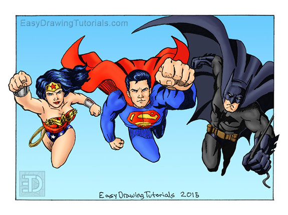 Wonder Woman Superman Batman Color