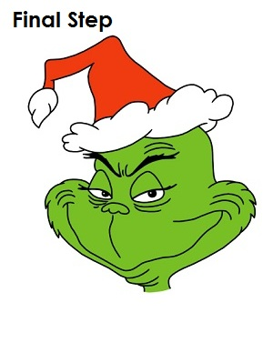 It is a picture of Epic Printable Grinch Face