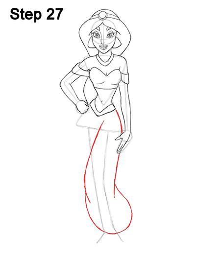 How to draw jasmine full body for Easy body drawings