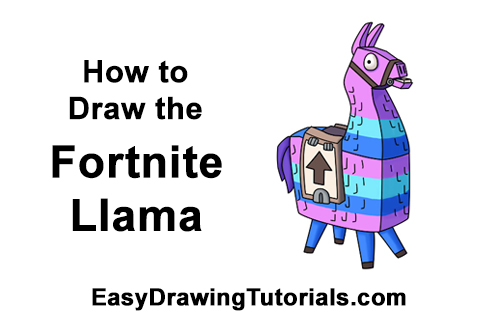 How to Draw Fortnite Loot Llama pinata