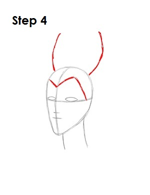 How to Draw Maleficent Step 4