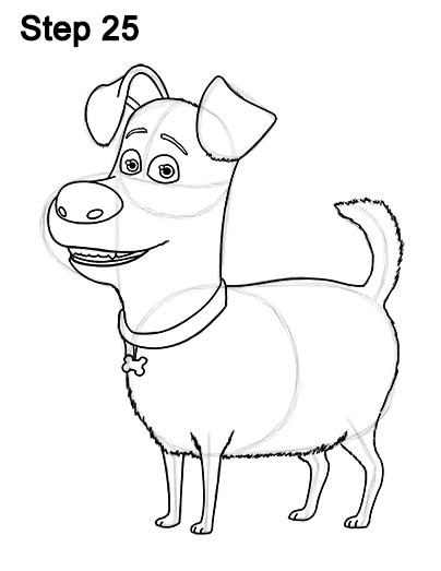 Line Drawing Pet Animals : How to draw max from the secret life of pets