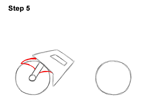 How to Draw Cartoon Sport Bike Motorcycle 5