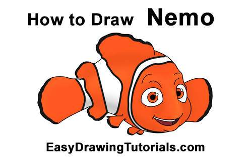 How to Draw Finding Nemo