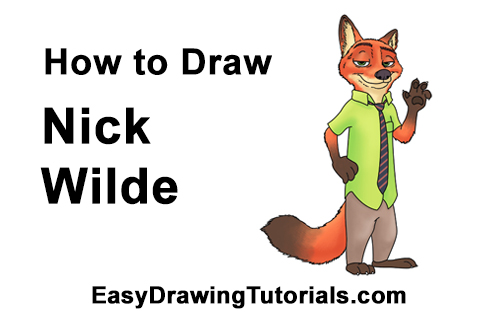 How to Draw Nick Wilde Zootopia