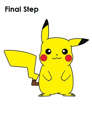 How to draw pikachu draw pikachu last step thecheapjerseys Image collections