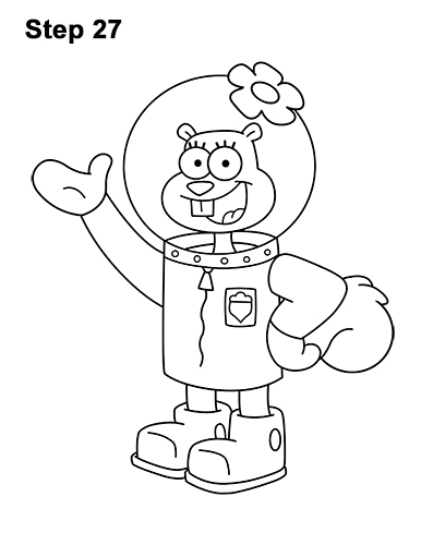 Spongebob squarepants for Sandy cheeks coloring pages