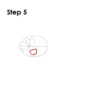 How to Draw a Smurf Step 5