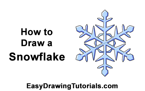 How to Draw Cartoon Winter Snowflake
