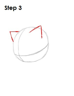 How to Draw Sonic X Step 3