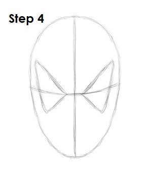 How to Draw Spider-Man Step 4