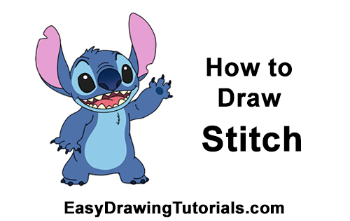 How to Draw Stitch Disney Lilo & Stitch