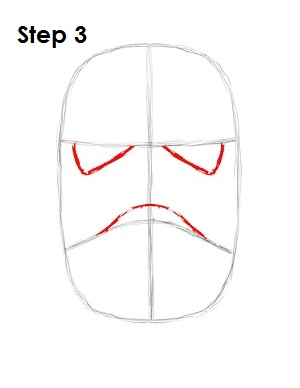 How to Draw Stormtrooper Star Wars Step 3
