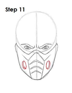 How To Draw Sub Zero Mortal Kombat